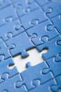 Abstract puzzle background with one piece missing Royalty Free Stock Photo