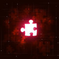 Abstract Puzzle Business Red Background Royalty Free Stock Photo
