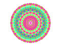Abstract radial pattern bright color on white background Royalty Free Stock Image