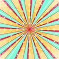 Abstract radial sun burst background retro style colorful light dissipated behind vector illustration eps Royalty Free Stock Photography
