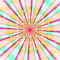 Abstract radial sun burst background. Retro style colorful light dissipated behind. Vector illustration. EPS 10 Royalty Free Stock Photo