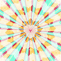 Abstract radial sun burst background retro style colorful light dissipated behind vector illustration eps Stock Images