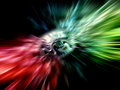 Abstract rainbow background with divergent rays red and green Royalty Free Stock Photography