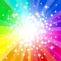 Abstract Rainbow Colored Star ...