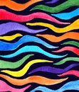 stock image of  Abstract rainbow colored tentacles in dark background in watercolor style, textured