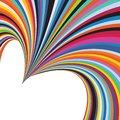 Abstract Rainbow Colorful Love Heart Stripe Anniversary Background Royalty Free Stock Photo