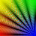 Abstract rainbow concentric spiral corner Stock Photos