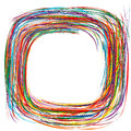 Abstract rainbow curved stripes color line frame background Royalty Free Stock Photo