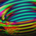 Abstract rainbow cyclone background with whirling tornado form. Royalty Free Stock Photo