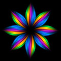 Abstract rainbow flower Royalty Free Stock Photo