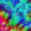 Abstract Rainbow Kaleidoscope ...