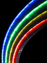 Abstract rainbow lamps, disco details, Stock Photography