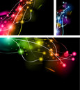 Abstract Rainbow Lights Business Cards Royalty Free Stock Photo