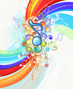 Abstract rainbow music Royalty Free Stock Photo