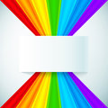 Abstract rainbow stripes with paper label vector background Royalty Free Stock Photography