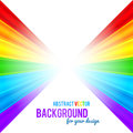 Abstract rainbow stripes vector background colors perspective Royalty Free Stock Photo
