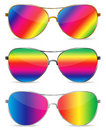 Abstract rainbow sunglasses Royalty Free Stock Images