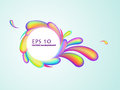 Abstract rainbow swirl background Royalty Free Stock Photo