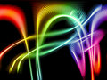 Abstract rainbow waves Royalty Free Stock Photos