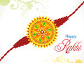Abstract raksha bandhan rakhi background vector illustration Royalty Free Stock Image