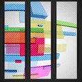 Abstract rectangle banner vector illustration eps Stock Photography