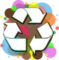 Abstract recycle illustration of a colorful layered logo Royalty Free Stock Photography