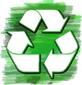 Abstract recycle illustration of a green layered logo Royalty Free Stock Image