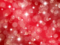 Abstract red background with boke and stars effect Royalty Free Stock Images