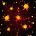 Abstract red background with christmas stars Royalty Free Stock Photo