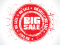 Abstract red big sale grunge stamp Stock Photography
