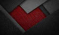 Abstract Red Black Carbon Fibe...
