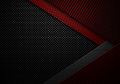 Abstract red black carbon fiber textured material design Royalty Free Stock Photo