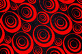 Abstract red and black circles Royalty Free Stock Photo