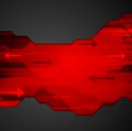 Abstract red black tech vector background Royalty Free Stock Photo