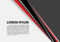 Abstract red black triangle line on gray blank space for text place design modern futuristic creative background vector Royalty Free Stock Photo