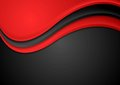 Abstract red and black wavy background Royalty Free Stock Photo