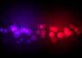 abstract red and blue light bokeh background.