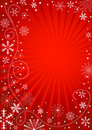 Abstract red christmas background Stock Images