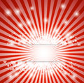 Abstract red christmas background with rays and snowflakes sparkles Stock Photo