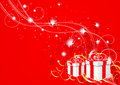 Abstract red Christmas gifts Royalty Free Stock Photo