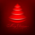 Abstract red christmas tree Royalty Free Stock Photo