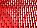 Abstract Red Cube Blocks Wall Background