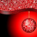 Abstract red disco ball Stock Image