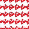 Abstract red drop background, seamless pattern on white