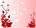 Abstract Red Floral Background Royalty Free Stock Photos