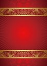 Abstract Red Frame Background Stock Photo