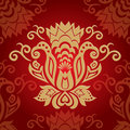 Abstract red golden floral background Royalty Free Stock Photography