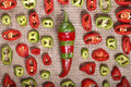 Abstract red green pepper bright background a Stock Photo
