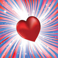 Abstract red heart like love to usa Stock Image