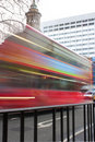 Abstract red london bus Stock Image